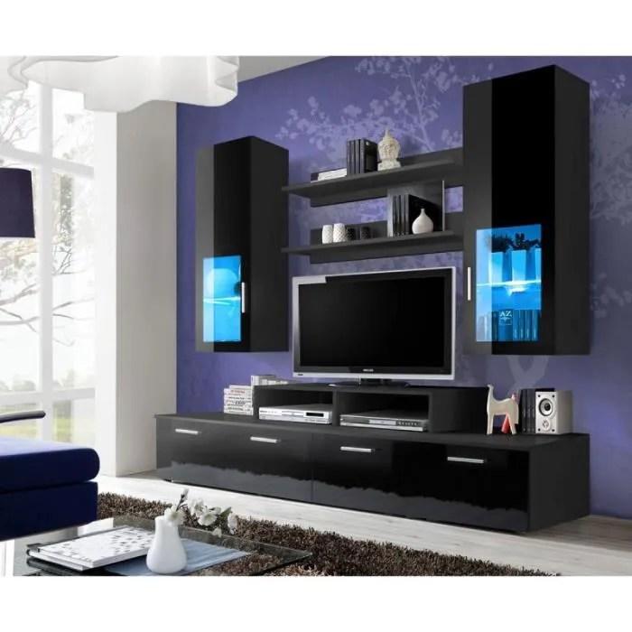 meuble tv mural design mini 200cm noir paris prix