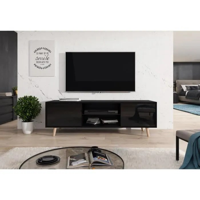 decoro meuble tv lasse style scandinave decor noir
