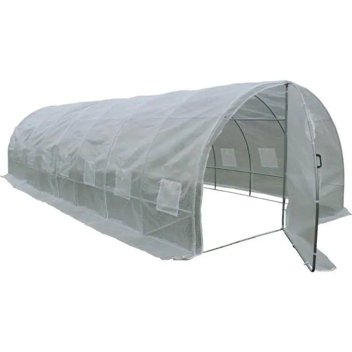 serre tunnel de jardin avec porte mimosa 220g m2