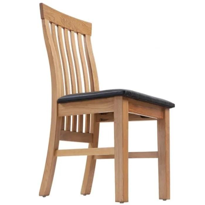 chaises de cuisine et de salle a manger chaises de salle a manger bois de chene 2 pcs cuir artificiel
