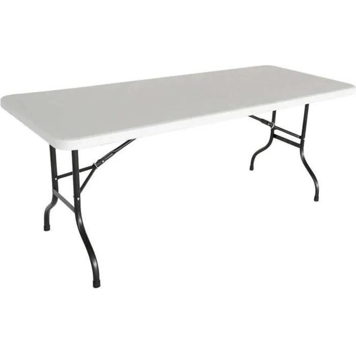 table pliante 8 places 183 cm