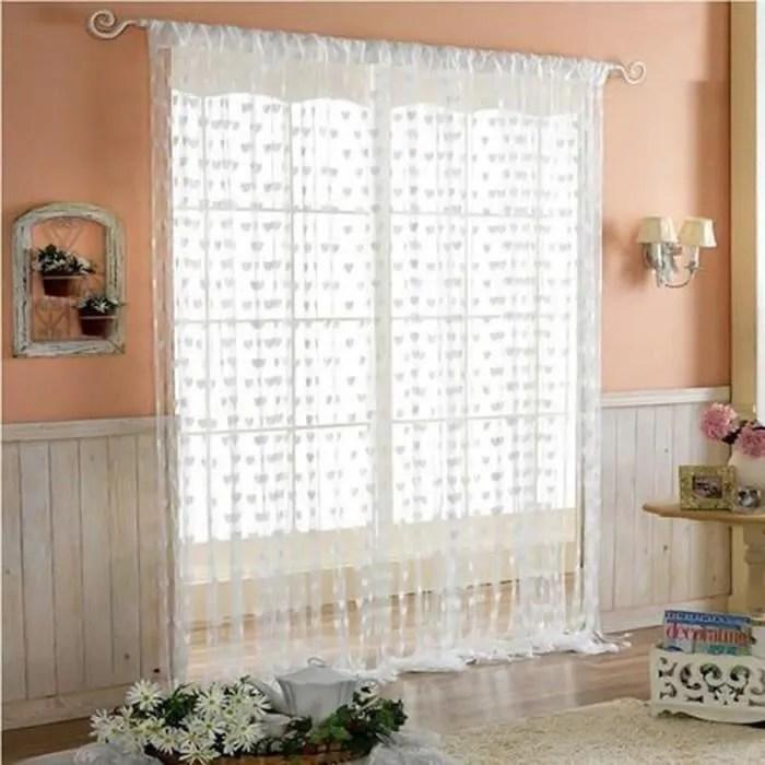 rideaux voilage 100x200 a oeillet rideau voilage blanc rideaux salon moderne voilage rideaux chambre enfant adulte oeillet cœur