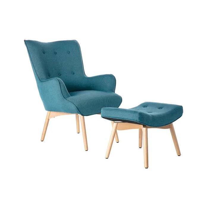 miliboo fauteuil design scandinave et son repose