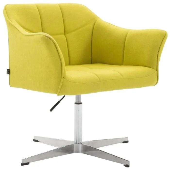 fauteuil de bureau ergonomique sans roulettes en tissu vert hauteur reglable fal10042
