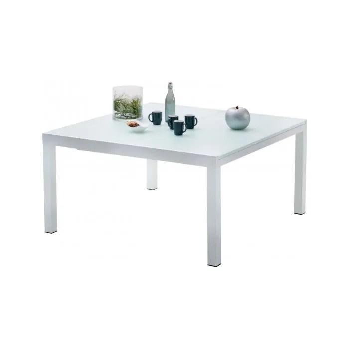 table de jardin carree extensible aluminium