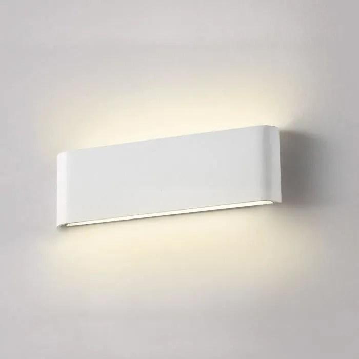 12w Applique Murale Led 30cm 2800k Blanc Chaud Moderne Lampe Murale Blanche Decor Pour Cuisine Chambre Salon Couloir Escalier Hotel Cdiscount Maison