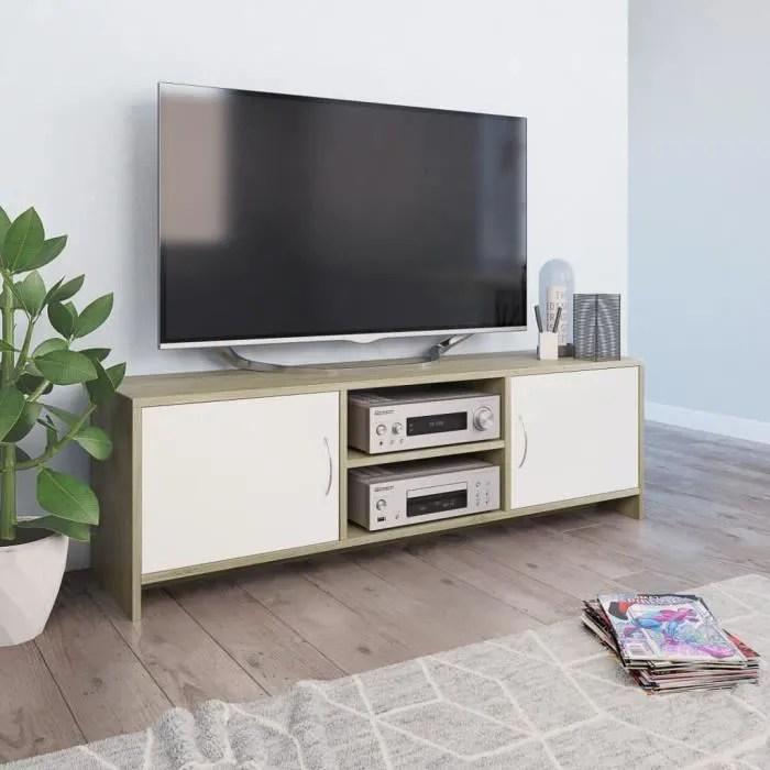 meuble tv banc tv meuble de salon moderne blanc