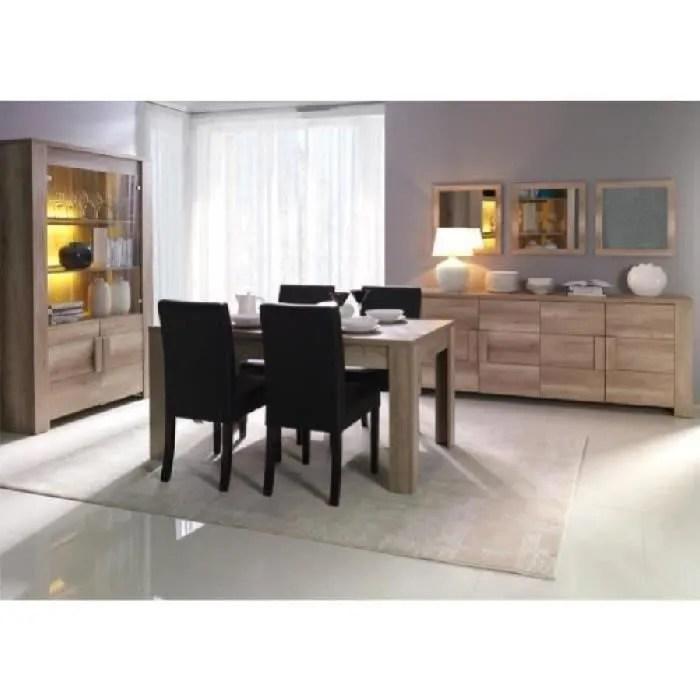 salle a manger complete ferrara buffet vitrine vaisselier miroirs table en 160 cm