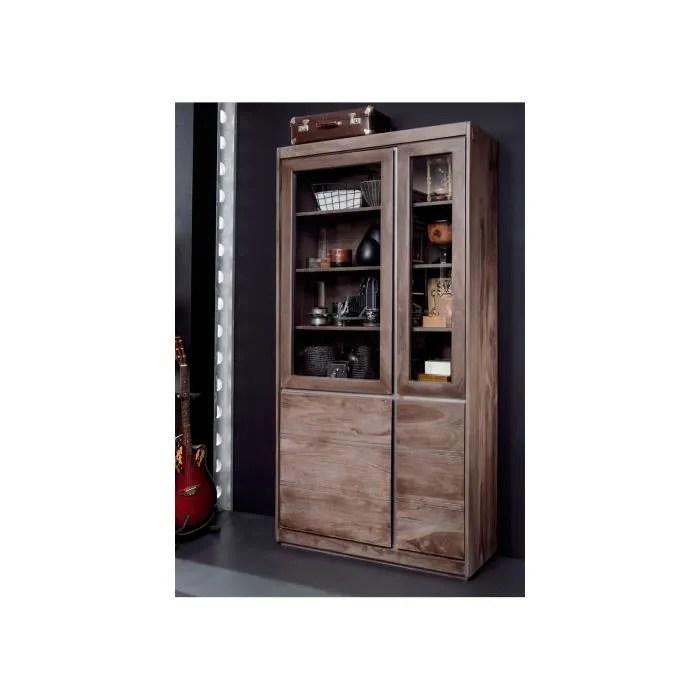 vitrine bois massif de palissandre laque smoked oak sydney 201