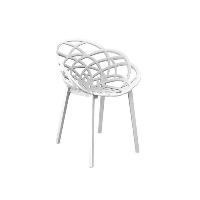 chaise contemporaine flora blanc