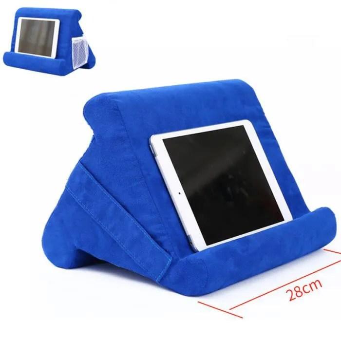 coussin de support pour tablette telephone tablette porte livre support de lecture de tablette lecture lit soutien coussin bleu