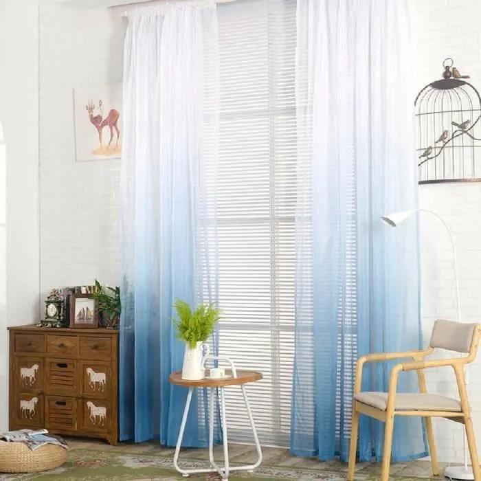 ecrans rideaux degrade bleu gris