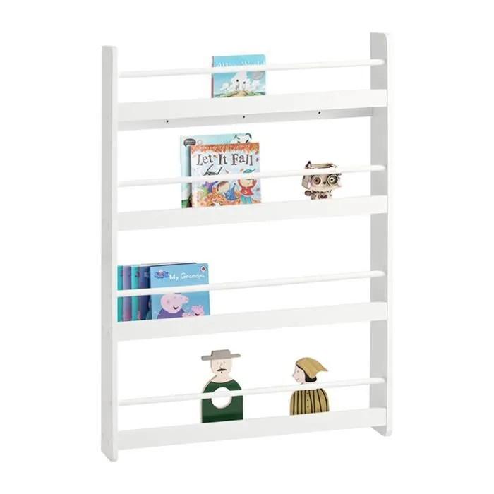 sobuy kmb08 w bibliotheque murale etagere a livres enfants etagere de rangement avec 4 etages