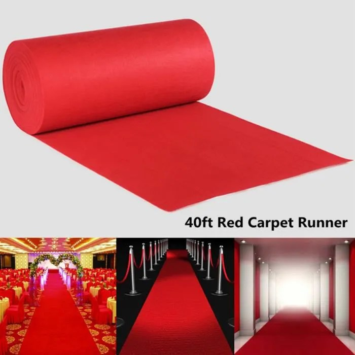 tempsa 1200x100cm tapis rouge intisse decoration s
