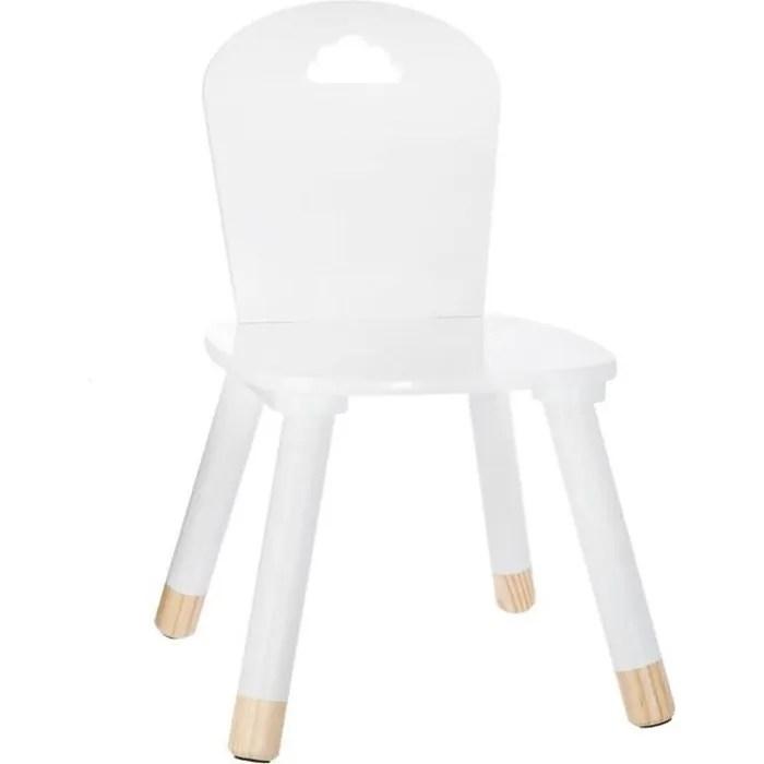 chaise douceur blanche pour enfant en bois autres blanc