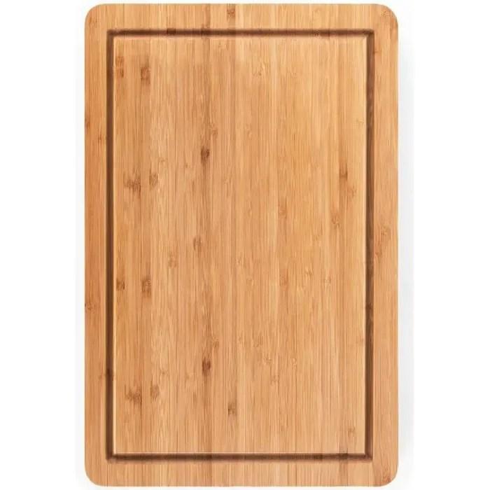 blumtal planche a decouper bois cuisine bambou grande taille 38 x 25cm