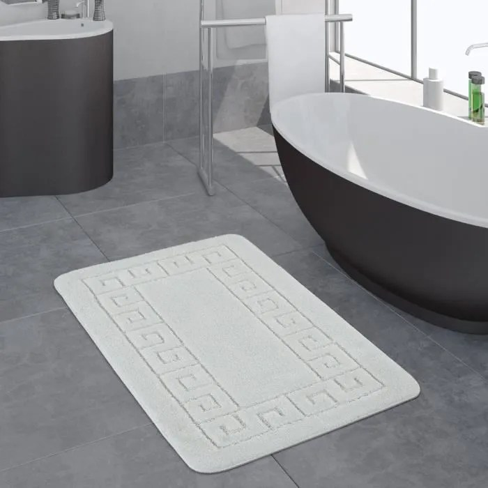 tapis salle de bain moderne bordure tapis de bain