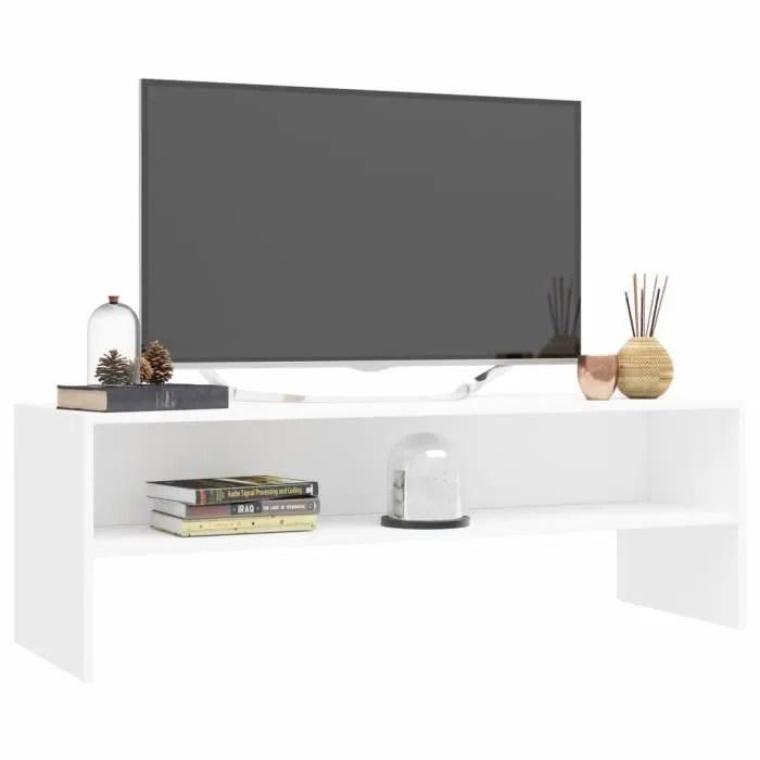 sib meuble tv style simple blanc 120 x 40 x 40 cm