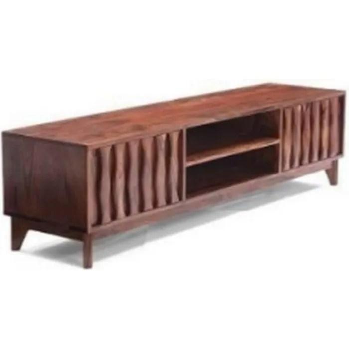 meuble tv en bois massif vintage