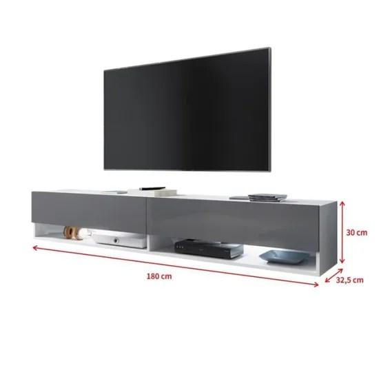 meubles audio video 140 cm beton selsey