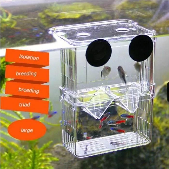 incubateur aquarium boite acrylique bac a poissons