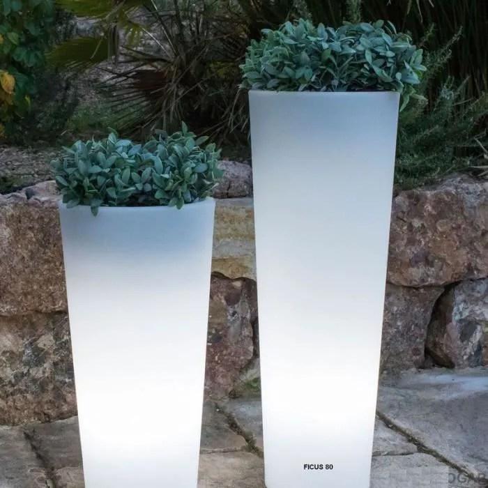 Pot Lumineux Solaire Ficus 80 Smarttech Recharge Solaire Ou Secteur Avec Telecommande Cdiscount Maison