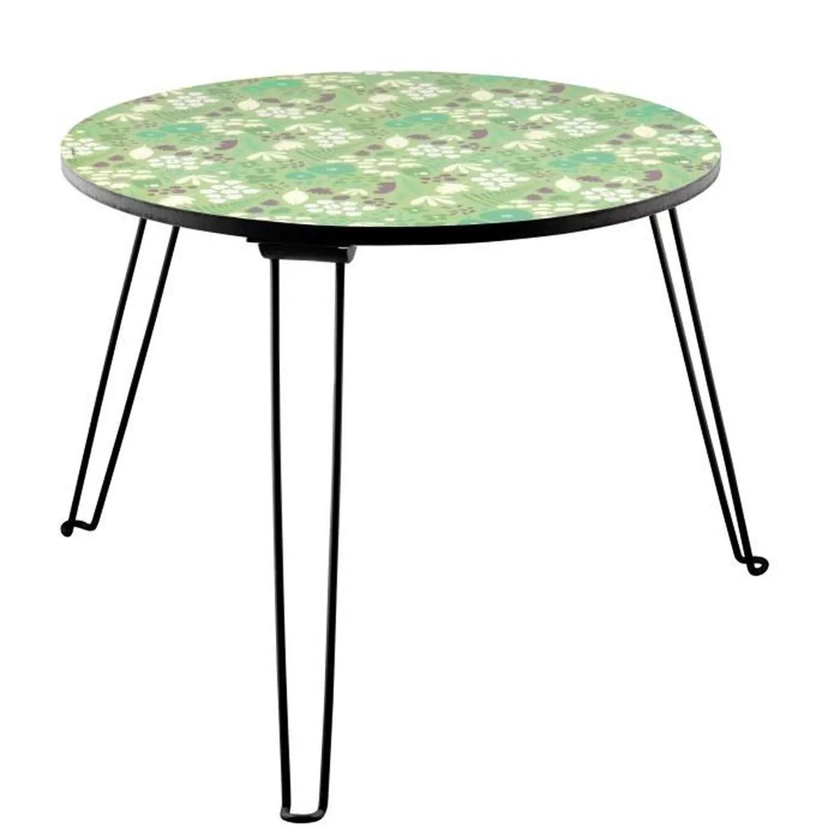 table basse ronde pliante matin calme