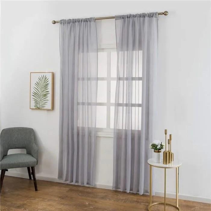 ueb rideaux salon de fenetre lin pur pure moderne