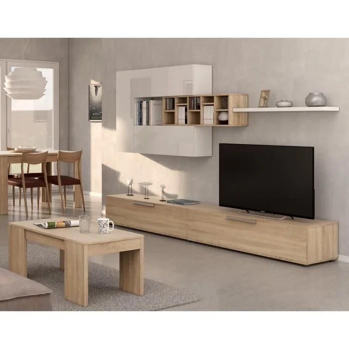 deco meuble tv contemporain decor chene