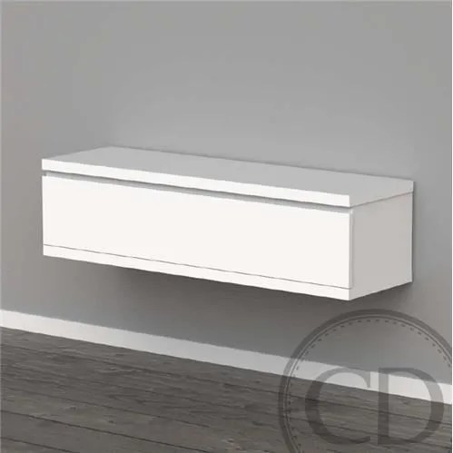 meuble tv suspendu laque blanc design
