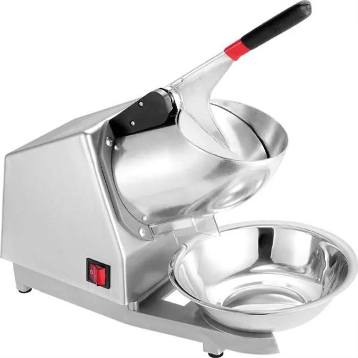 300w 220v machine broyeur a glace electrique broyeur de glacon machine a glace pilee professionnelle en acier inoxydable argent