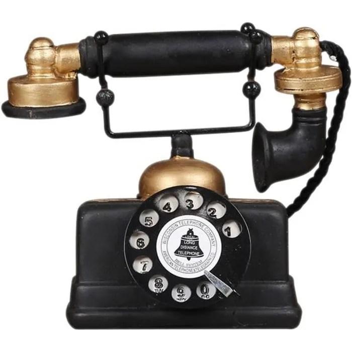 loft industriel retro modele de telephone fixe rot