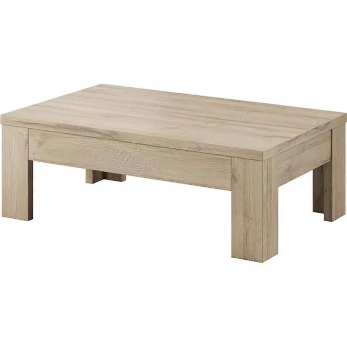 table basse rectangulaire chene clair 45 chene clair