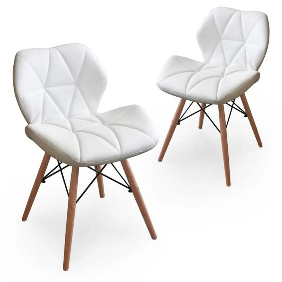 lot de 2 chaises design ophir blanc