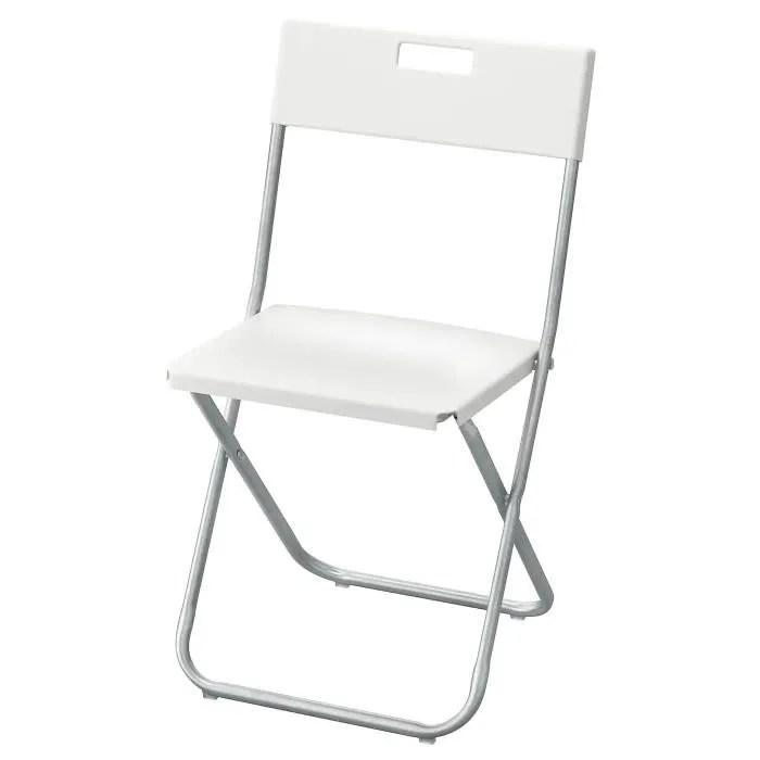 ikea gunde chaise pliante blanc