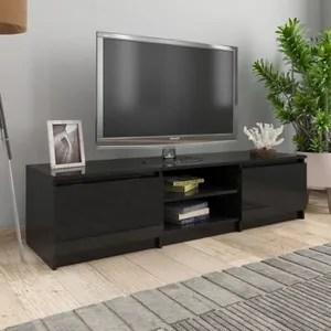 meuble salon noir brillant cdiscount