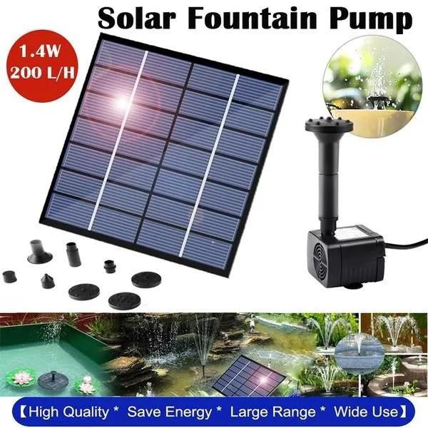 fontaine solaire exterieur flottante 1 4w pompe b