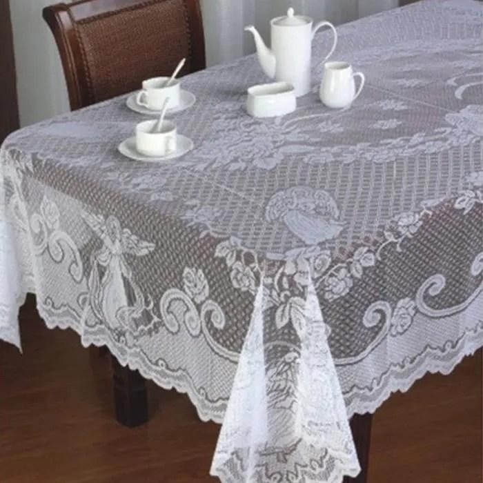 carre blanc rond noel ange couverture dentelle couverture nappe maison noel decor blanc 152x213cm