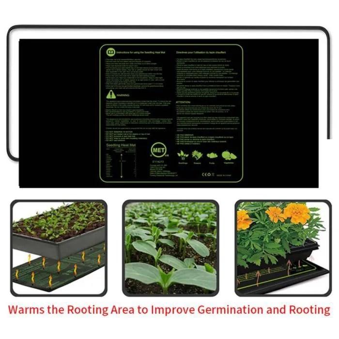 tapis chauffant serre germination semis temperatur