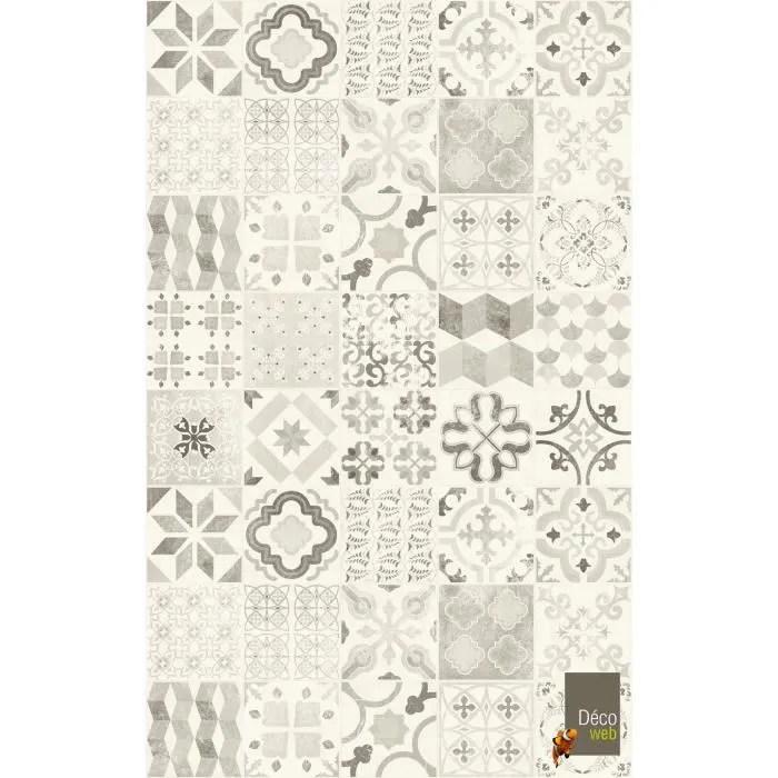 tapis vinyle 100 x 200 cm carreaux de ciment noi