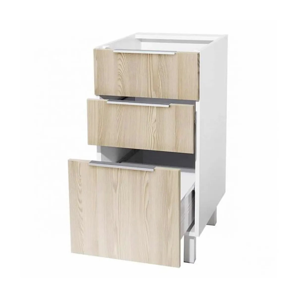 meuble bas cuisine 3 tiroirs