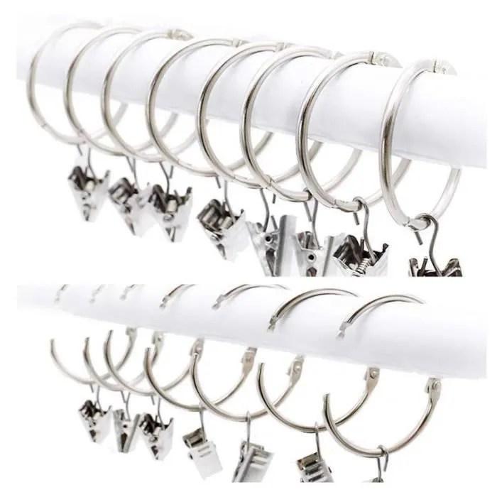 paquet de 25 anneaux pour rideaux pinces fenetre