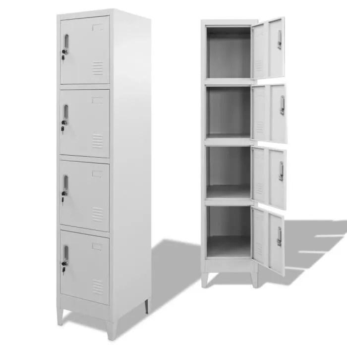 armoire a casiers casiers et armoires de rangement classeur avec 4 compartiments 38 x 45 x 180 cm