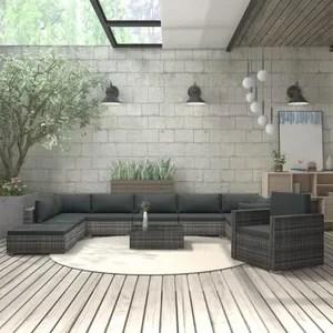 salon de jardin monaco gris