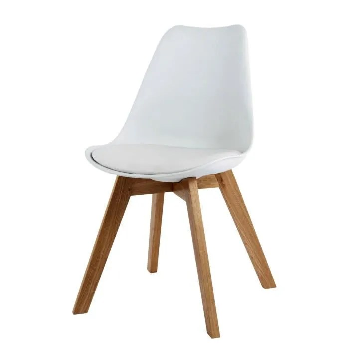chaise design scandinave blanche norway