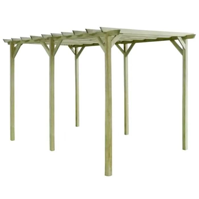 pergola de jardin 4 x 2 x 2 m bois de pin impregne