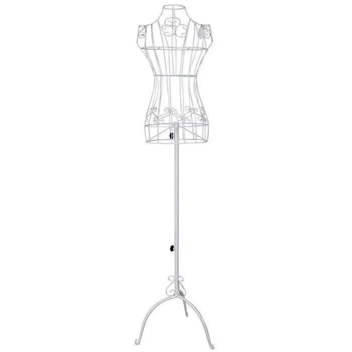 Netboat Reglable 170 Cm Porte Vetement Mannequin De Couture Buste En Fer Forge Femme Blanc Ebb14 Cdiscount Beaux Arts Et Loisirs Creatifs