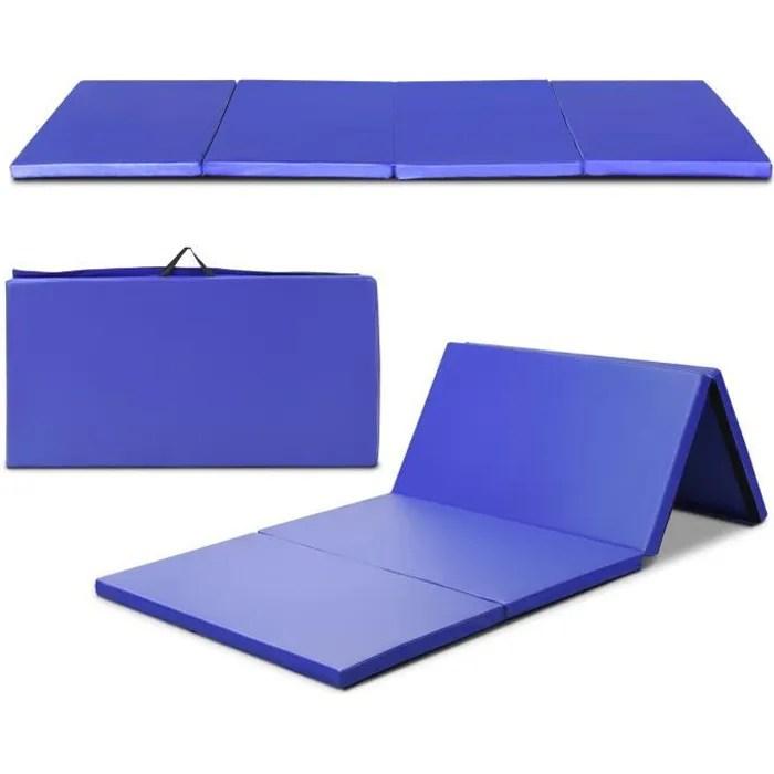 costway tapis de gymnastique pliable 240 x 120 x 5