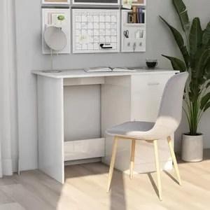 bureau blanc 100 cm
