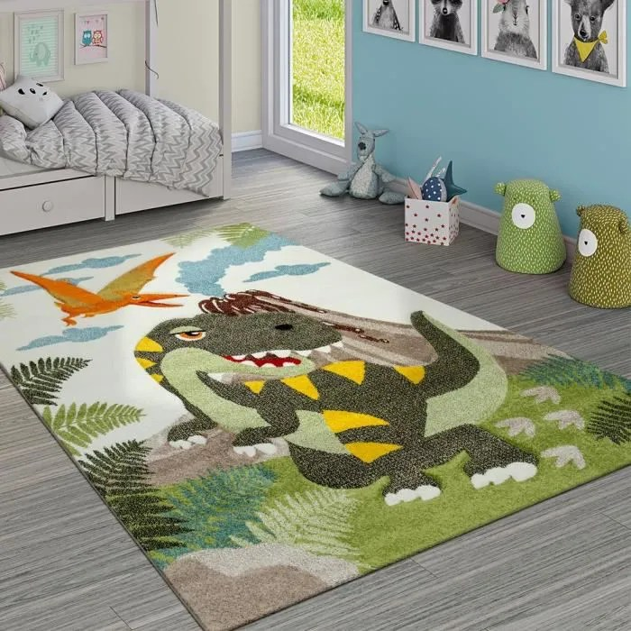 tapis chambre enfant adorable dinosaures jungle vo
